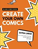 Blank Comic Book: Create Your Own Comics: Extra Large, 220 Pages, Action Templates (Blank Comic Book for Kids) (Volume 3)