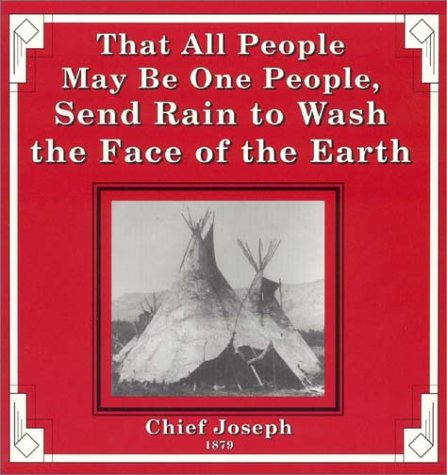 (That All People May Be One People, Send Rain to Wash the Face of the Earth)