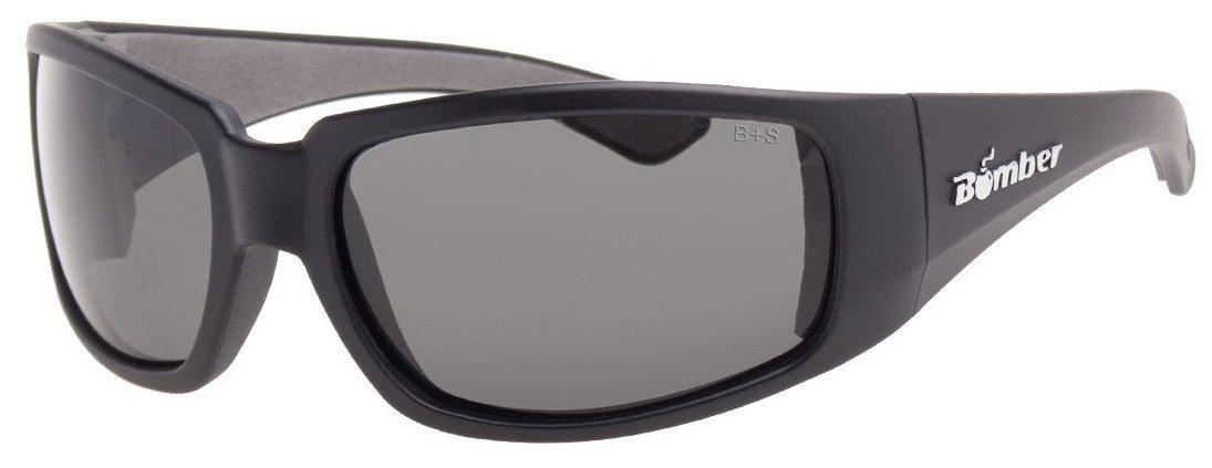 12 Pack Bomber ST103 Stink-Bomb Safety Glasses - Smoke Lens, Matte Black Frames