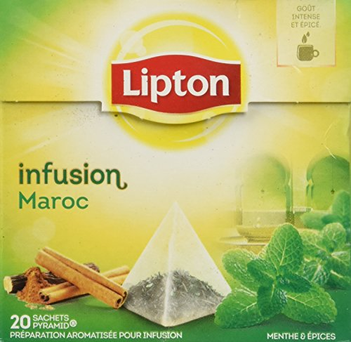 Cinnamon Mint Tea (Lipton Infusion Maroc French Tisane 20 bags)