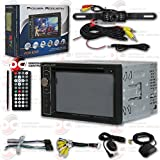 """Power Acoustik PDN 626B 6.2"""" Double DIN Navigation Car audio DVD MP3 CD Player USB with Bluetooth Plus DCO Waterproof Backup Camera with Nightvision (Optional camera)"""