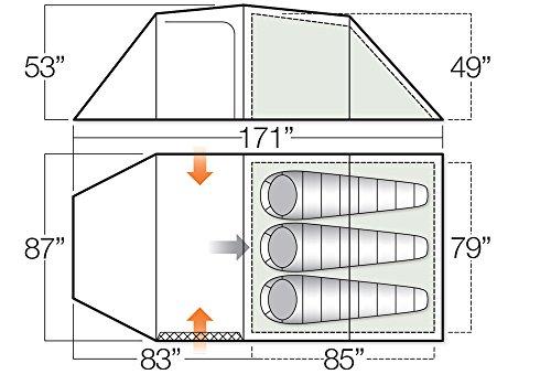 Vango Omega 350 3 Person Tunnel Tent, Cactus