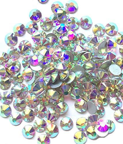 Jollin Glue Fix Crystal AB FlatBack Rhinestones ()
