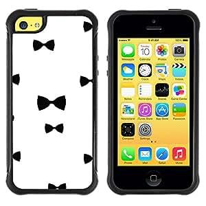 Suave TPU GEL Carcasa Funda Silicona Blando Estuche Caso de protección (para) Apple Iphone 5C / CECELL Phone case / / Chique White Black Minimalist /