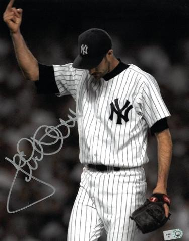 Jack McDowell Signed Photograph - 8X10 Middle Finger Bronx Salute)- Hologram - Autographed MLB Photos Athlon