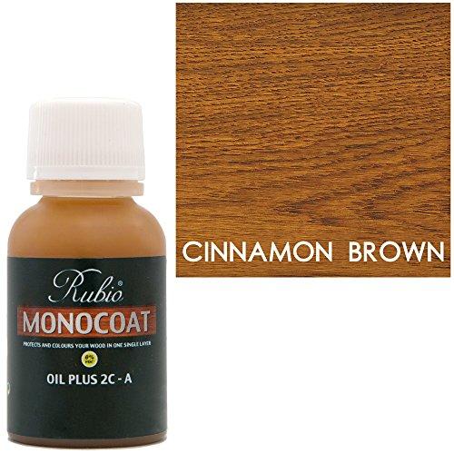Rubio Monocoat Oil Plus 2C-A Sample Wood Stain Cinnamon Brown 20ml (Color Cinnamon Stain)