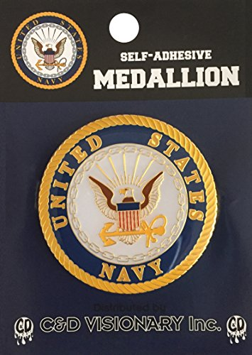 Licenses Products Navy Self-Adhesive Medallion