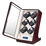 OLYMBROS Wooden Automatic Watch Winder Case with LCD Touch Screen for 12+2 Watches