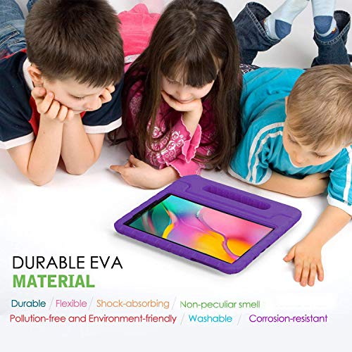 BMOUO Kids Case for Samsung Galaxy Tab A 10.1 (2019) SM-T510/T515, Shockproof Light Weight Protective Handle Stand Kids Case for Galaxy Tab A 10.1 Inch 2019 Release SM-T510/T515 - Purple
