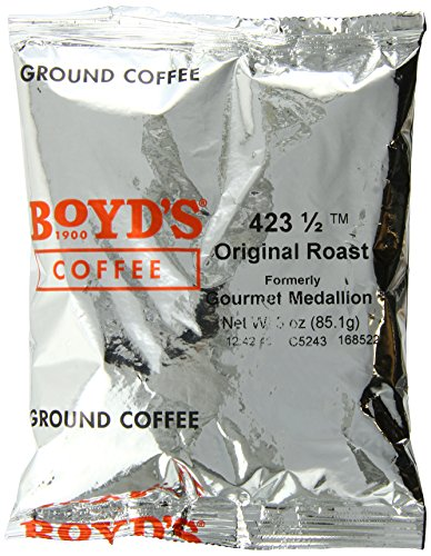 Boyd's Orginal Roast Coffee - Ground Medium Roast - 3-Oz Portion Packs (Pack of 40) from Boyds Coffee