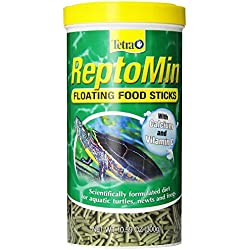 Tetra ReptoMin Aquatic Turtle, Newt and Frog Reptile Floating Food Sticks,10.59 Ounce