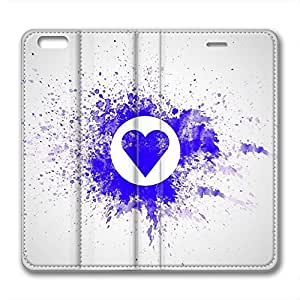 Love and Rose Design Iphone 6 Leather Case Heart