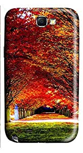 Samsung Note 2 Case Autumn Leaves 3D Custom Samsung Note 2 Case Cover