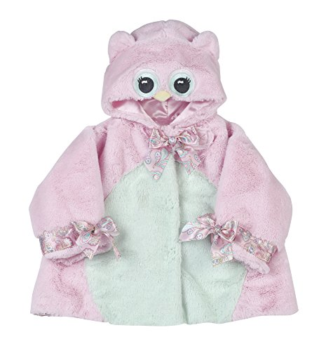 Bearington Baby LIL' Hoots Pink Owl Hooded Coat (06-12 Months)