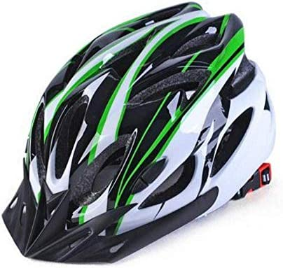 RONGW 自転車 ヘルメット ヘルメット自転車サイクリングサイクリングヘルメットバイクユニサイクルヘルメットプロテクター自転車自転車ヘルメットアジャスタブルヘルメットグリーン55Cmx61Cm サイズ調整可能 男女兼用