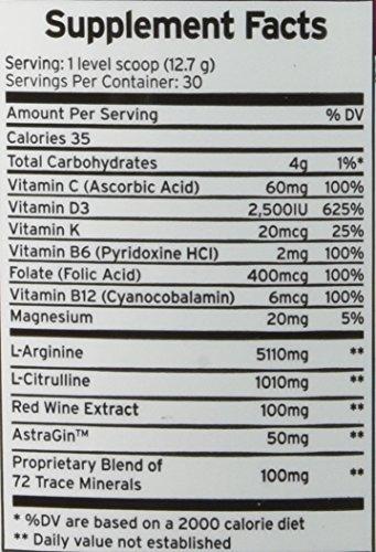L – Arginine Plus 6 – pack Cardio Health Formula And Nitric Oxide Booster ,Grape 13.4 Oz.