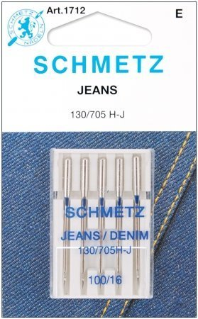Schmetz, Jean & Denim Machine Needles-Size 16/100 5/Pkg