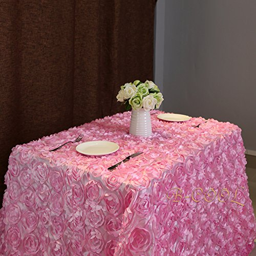 Pink Rosette (B-COOL rosette tablecloth Satin Rosette Tablecloths Pink 60