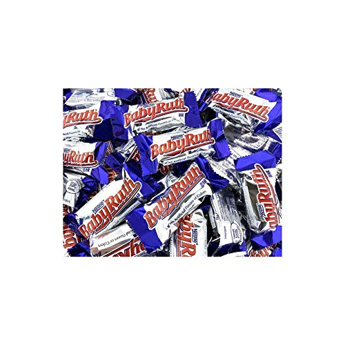 (LaetaFood Bag - Nestle Baby Ruth Bursting Peanuts, Rich Caramel Chewy Nougat, Snack Size Treats (Pack of 2 Pounds))
