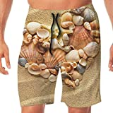Haixia Men Quick Dry Beach Shorts The Sand Shore was A Love of Stones and Shel
