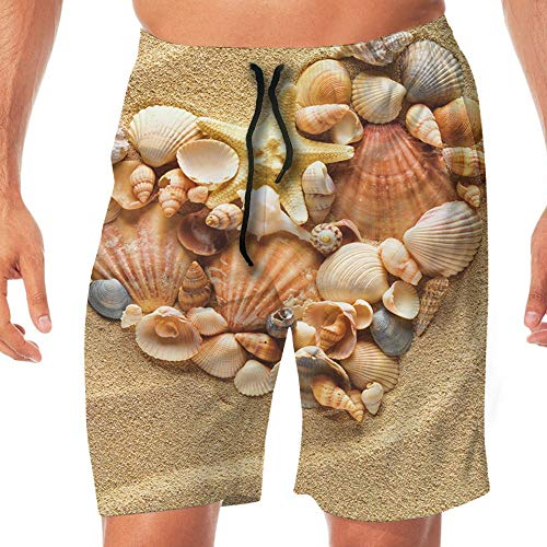 Haixia Men Quick Dry Beach Shorts The Sand Shore was A Love of Stones and Shel by Haixia (Image #5)'
