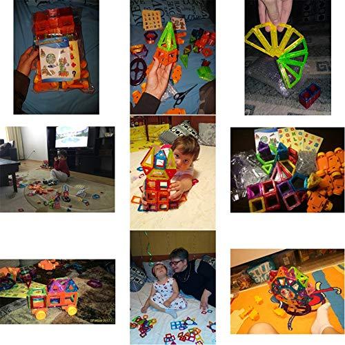 PPH3 Shine 100-298Pcs Blocks Magnetic Designer Construction Set Model & Building Toy Plastic Magnetic Blocks Educational Toys for Kids Gift (298 Pcs) by PPH3 Shine (Image #2)