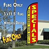 Ask About Our Daily Specials Windless Polyknit Feather Flag (3 x 11.5 feet)