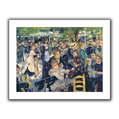 ArtWall 'Ball at The Moulin De La Galette' Flat Unwrapped Canvas Art by Pierre Renoir, 40 by 52-Inch