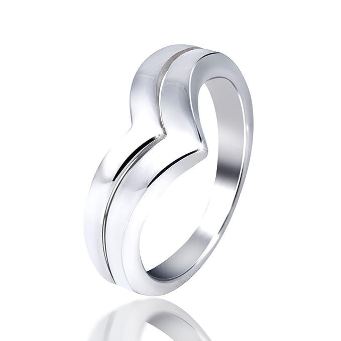 Anillo Materia de plata de ley 925, modelo Arrow, moderno. Anillo de plata para mujer, pulido brillante, incluye:joyero, #SR-72