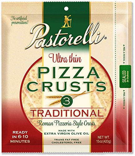 Pastorelli Ultra Thin & Crispy Pizza Crust, 12-inch, 3-ct (Pack of 6) by Pastorelli (Image #3)