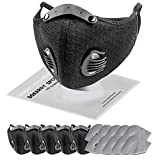SOKERDY Sports Masks 5Piece with10PCS Filters Net