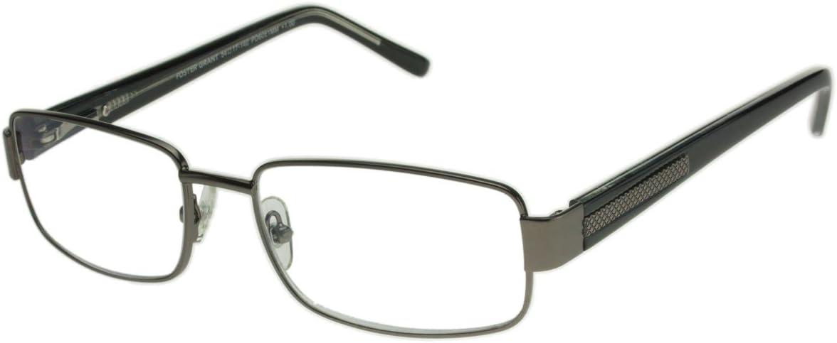 Foster Grant Technology Metal Premium Reading Glasses Jagger +3.25 Gunmetal