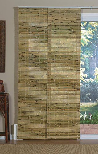 Lewis Hyman 0224110D Jakarta Panel Track Shade, 78-Inch Wide by 84-Inch Long, - Bamboo Blinds Sliding Doors For