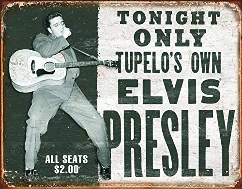 - Desperate Enterprises Elvis Presley - Tupelo's Own Tin Sign, 16