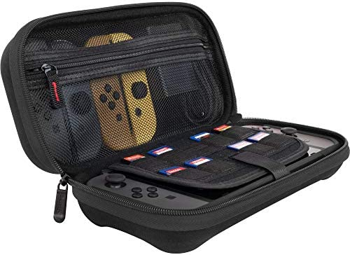ButterFox Deluxe Nintendo Switch Travel Bag Case with Storage Room for Official AC Adapter and 9 Game Card Slots - Black: Amazon.es: Videojuegos