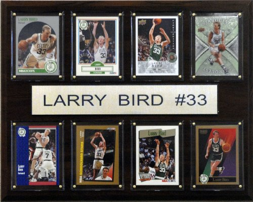 NBA Larry Bird Boston Celtics 8 Card Plaque (Celtic Love Birds)