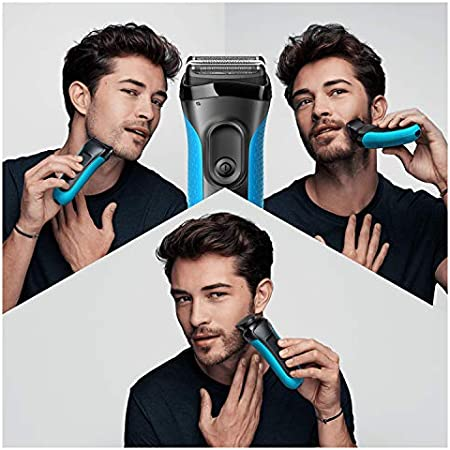 Braun Series 3 Proskin Shave&Style 3010BT, Afeitadora Eléctrica 3 en 1 Wet & Dry para Hombre con Recortadora de Precisión para la Barba y 5 Peines, Recargable e Inalámbrica, Negro/Azul: Amazon.es: Salud