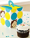 Mod Monkey Cupcake Boxes (4 count) Party Accessory