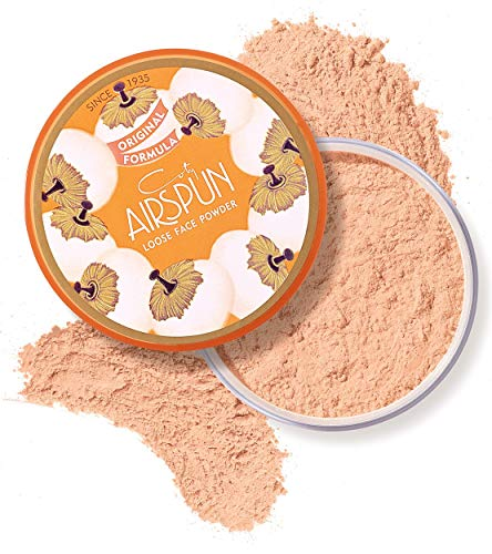 Coty Airspun Loose Face Powder 2.3 oz. Suntan Tone Loose Face Powder, for Setting Makeup or as Foundation, Lightweight, Long Lasting