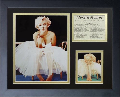 Legends Never Die Marilyn Monroe Ballerina Framed Photo Collage, 11x14-Inch
