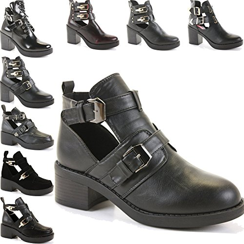 3 7 WOMENS PLATFORM SHOES CUT BLOCK ANKLE OUT Style BOOTIES HIGH LADIES Matt Black 8 SIZE WINTER BOOTS HEEL CHELSEA SnSxqrA6wT