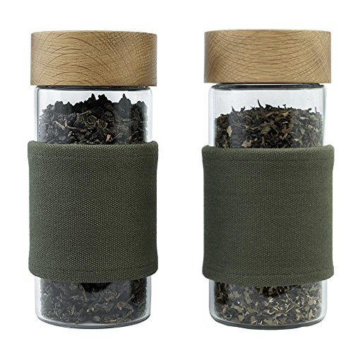 Sale!! OAKEN | 2 Airtight Storage Containers for Storing Coffee, Loose Leaf Tea, Spices & Dry Goods