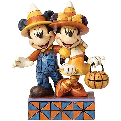 Minnie And Mickey Mouse Costumes For Couples - Jim Shores Disney Collection Mickey And Minnie Halloween Candy Corn Figurine