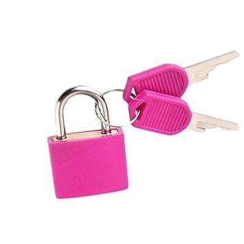 56dab8860515 Amazon.com: 1PC Random Color Mini Padlock Students Bag Travel ...