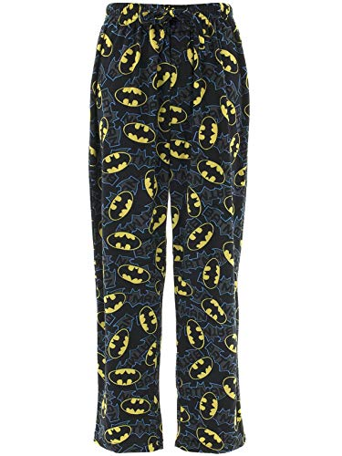 DC Comics Men's Batman Lounge Pants, Black, M