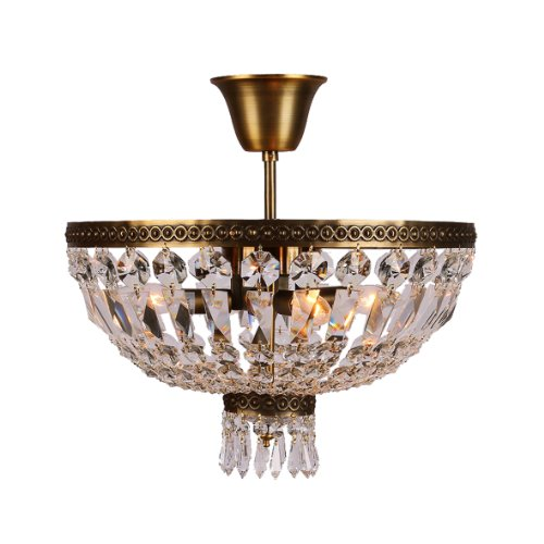 etropolitan Collection 4 Light Antique Bronze Finish Crystal Semi Flush Mount Ceiling Light 16