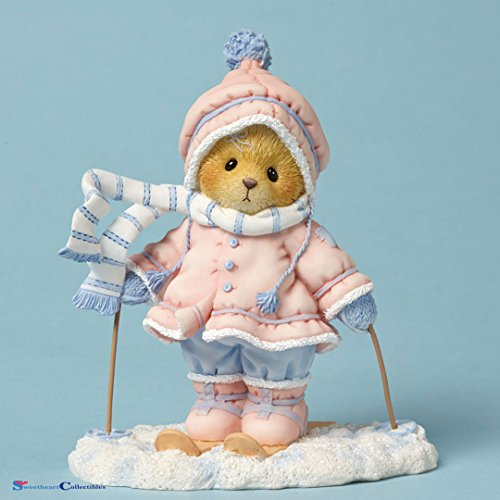 me with You is Snow Much Fun Aimee Skiing Bear Figurine (Cherished Teddies Bear)