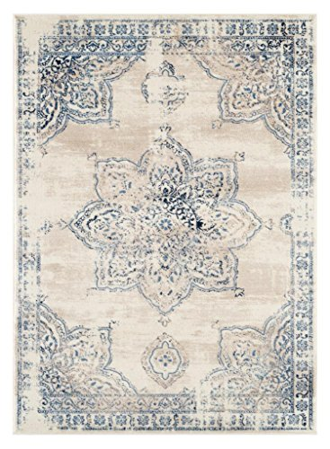 - 5934 Distressed Ivory 8 x 10 Area Rug Carpet Large New