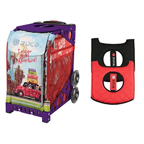 ZUCA Road Trip Sport Insert Bag with Sport Frame & Black/Red Seat Cushion Bundle (Climb Seat)