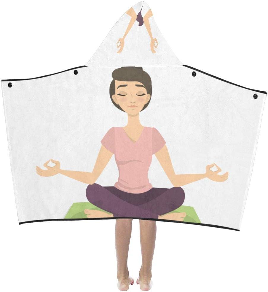 Yoga Dibujos animados Chica saludable Suave algodón cálido ...